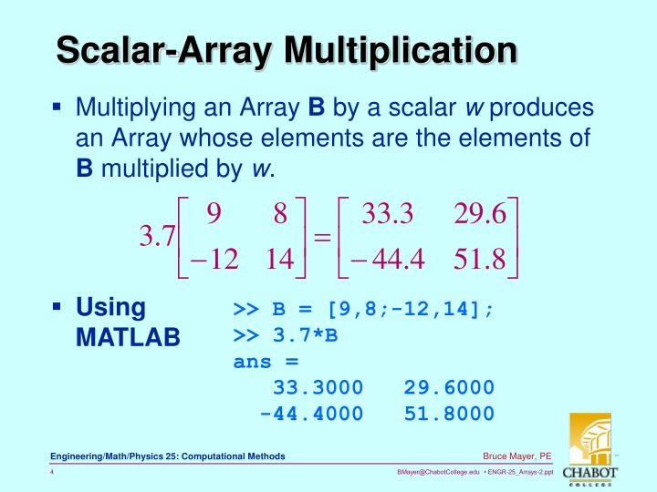 Multiplying an Array