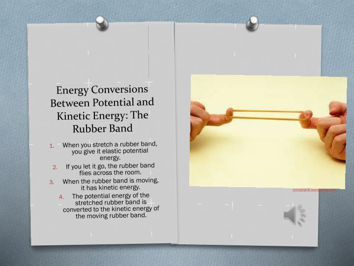 Energy Conversions Between Potential and Kinetic Energy: The Rubber Band