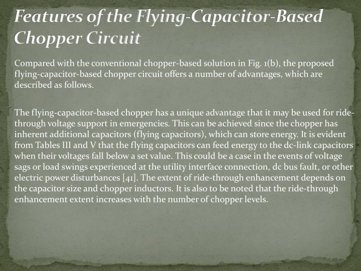 Features of the Flying-Capacitor-Based Chopper Circuit