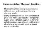 fundamentals of chemical reactions