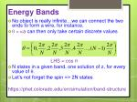 energy bands