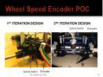 wheel speed encoder poc1