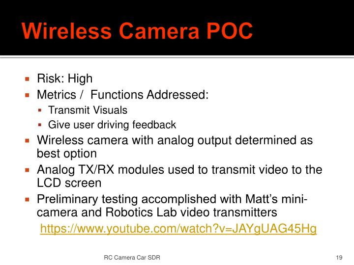 Wireless Camera POC