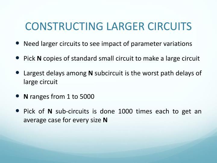CONSTRUCTING LARGER CIRCUITS