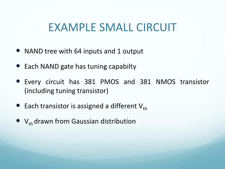 EXAMPLE SMALL CIRCUIT