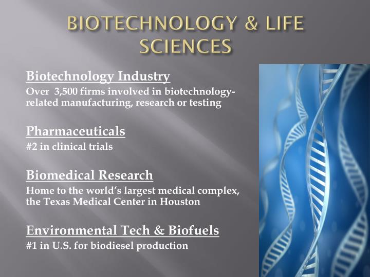 BIOTECHNOLOGY & LIFE SCIENCES