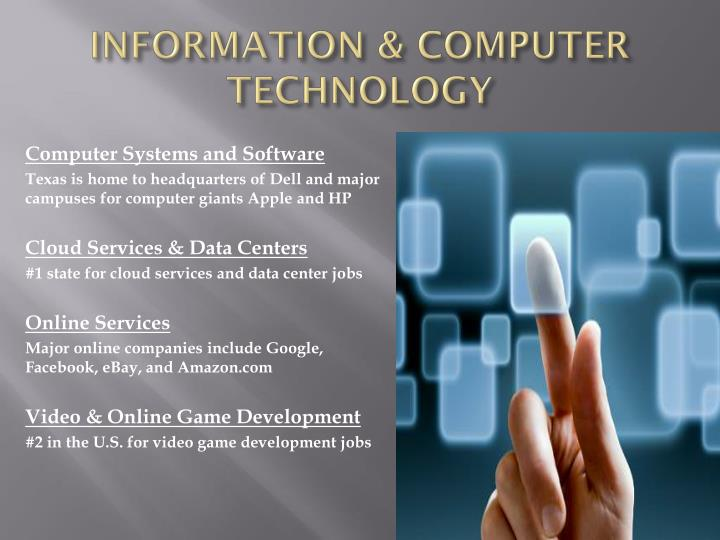 INFORMATION & COMPUTER TECHNOLOGY