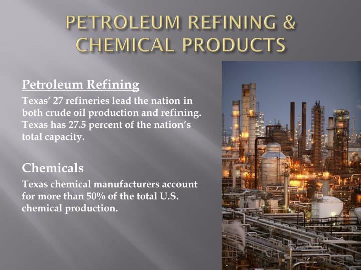 PETROLEUM REFINING & CHEMICAL PRODUCTS