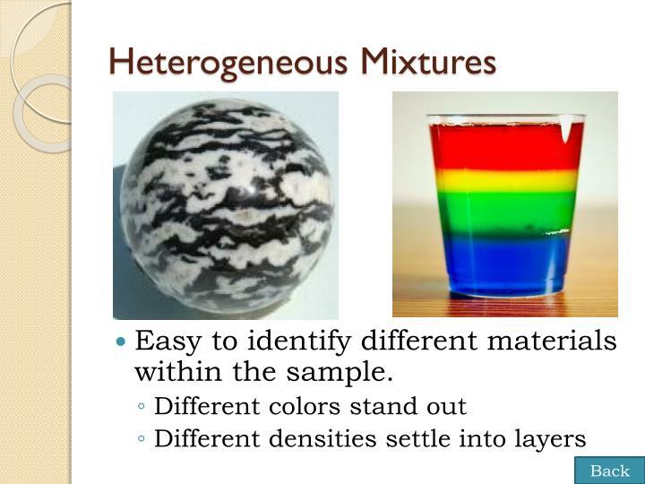 Heterogeneous Mixtures
