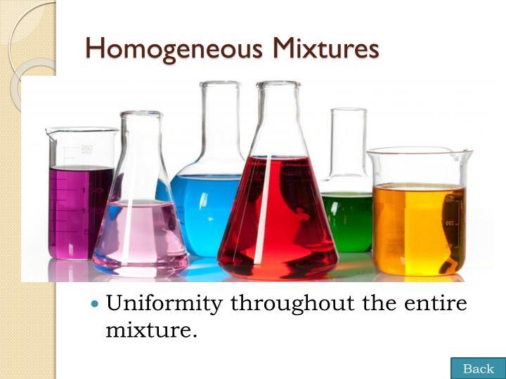 Homogeneous Mixtures