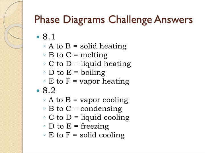Phase Diagrams Challenge Answers