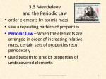 3 3 mendeleev and the periodic law