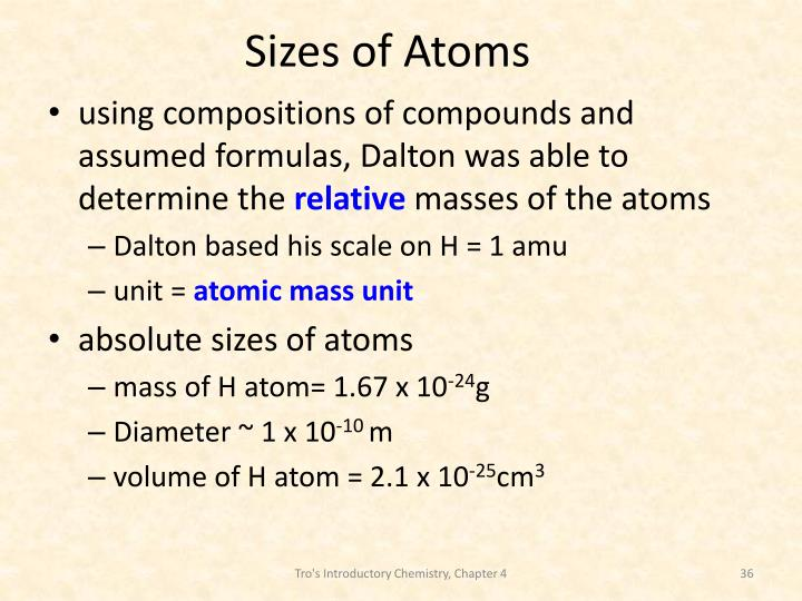 Sizes of Atoms