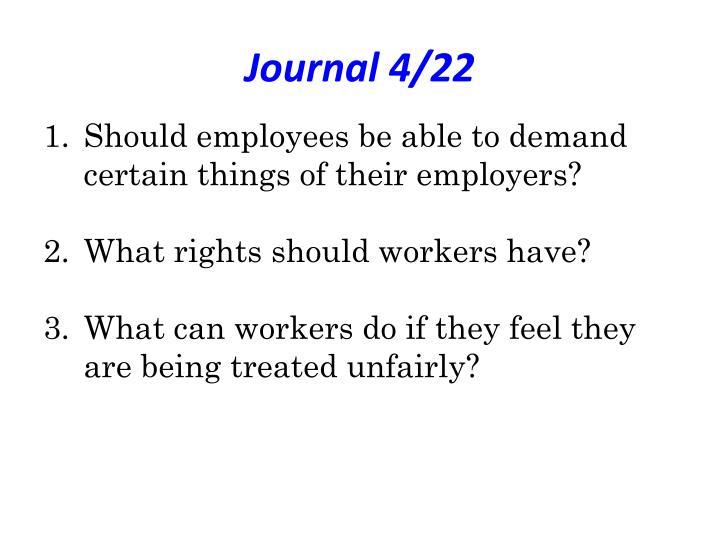 Journal 4/22