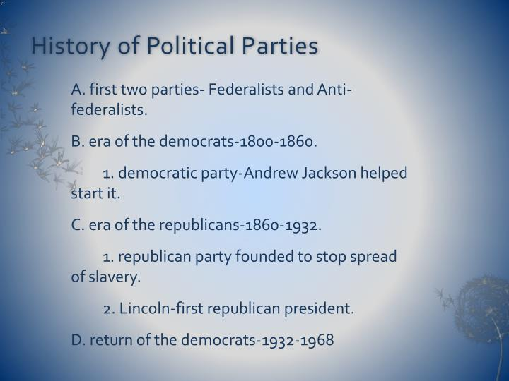 History of Political Parties