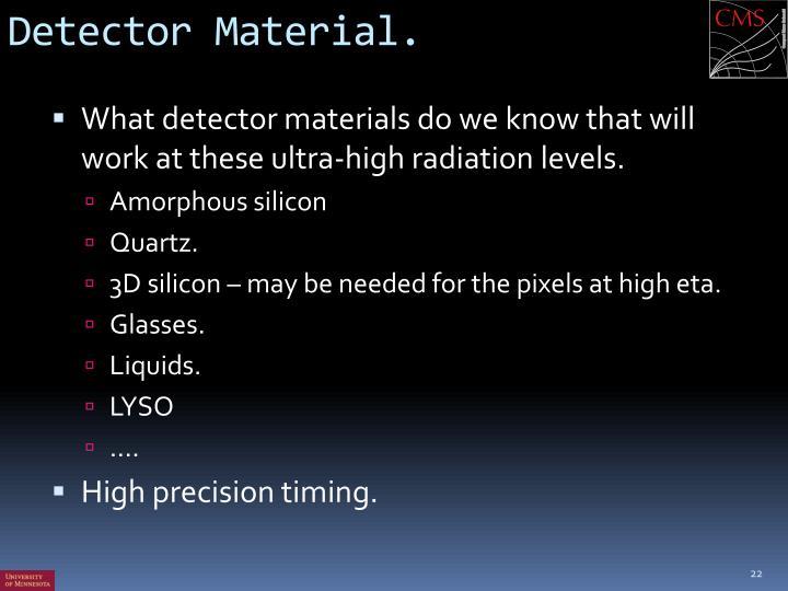 Detector Material.