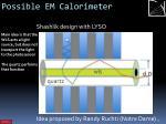 possible em calorimeter