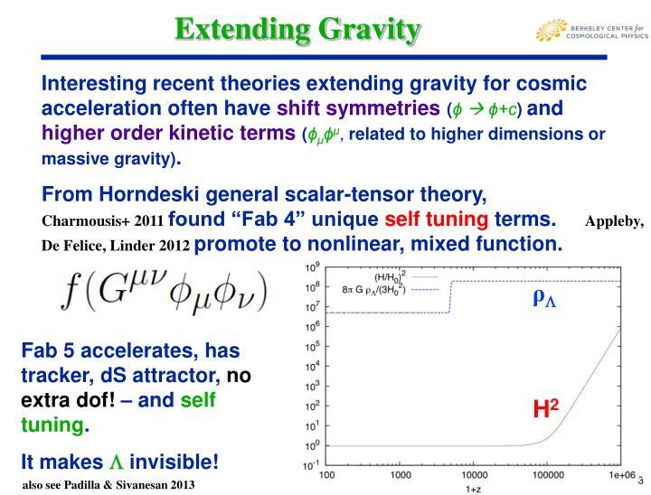 Extending Gravity