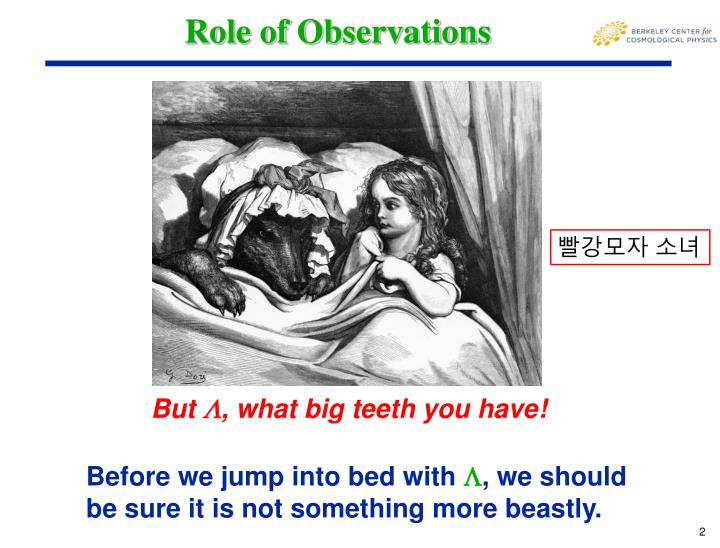 Role of Observations
