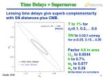 time delays supernovae