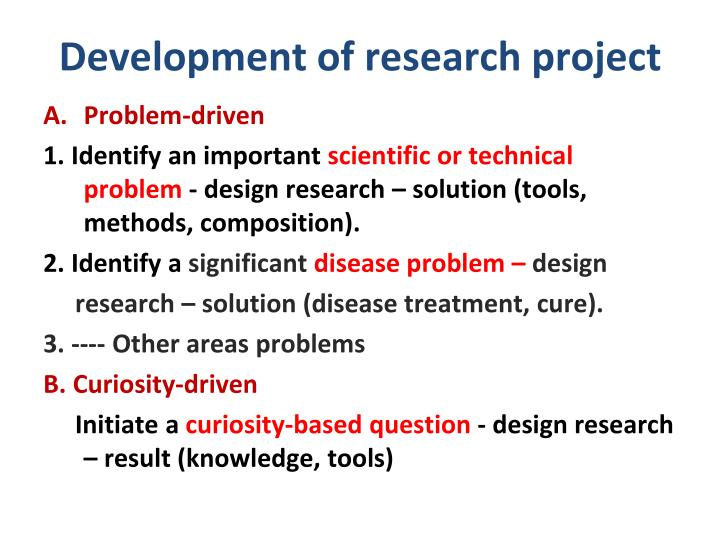 Development of research project