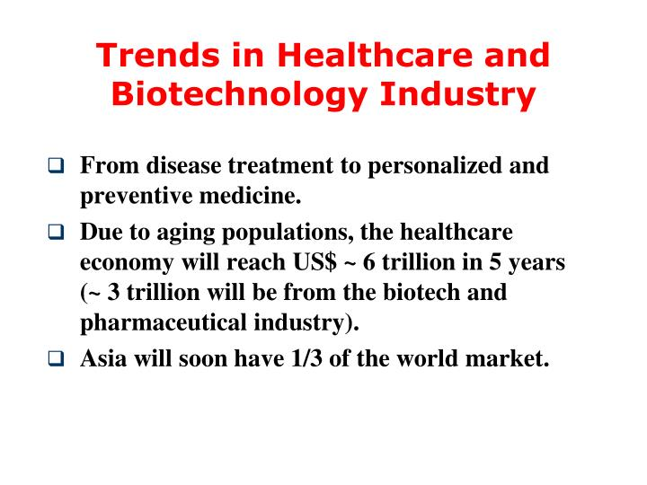 Trends in Healthcare and Biotechnology Industry