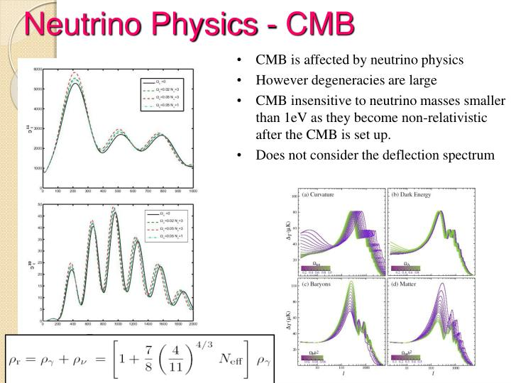Neutrino Physics - CMB