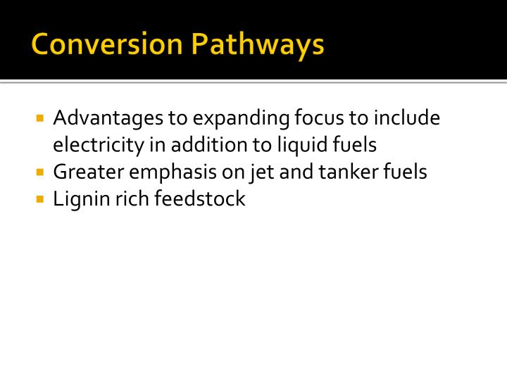 Conversion Pathways