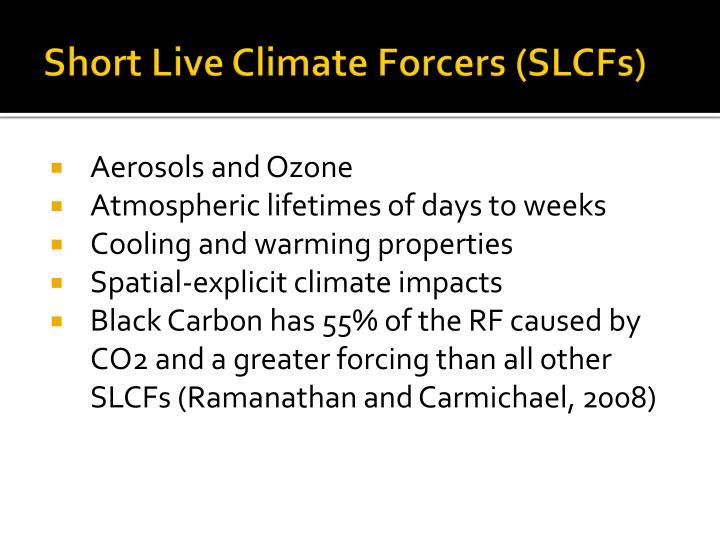 Short Live Climate Forcers (SLCFs)