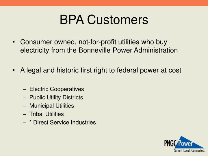 BPA Customers