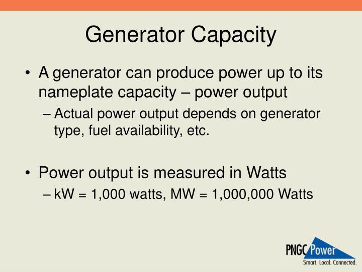 Generator Capacity