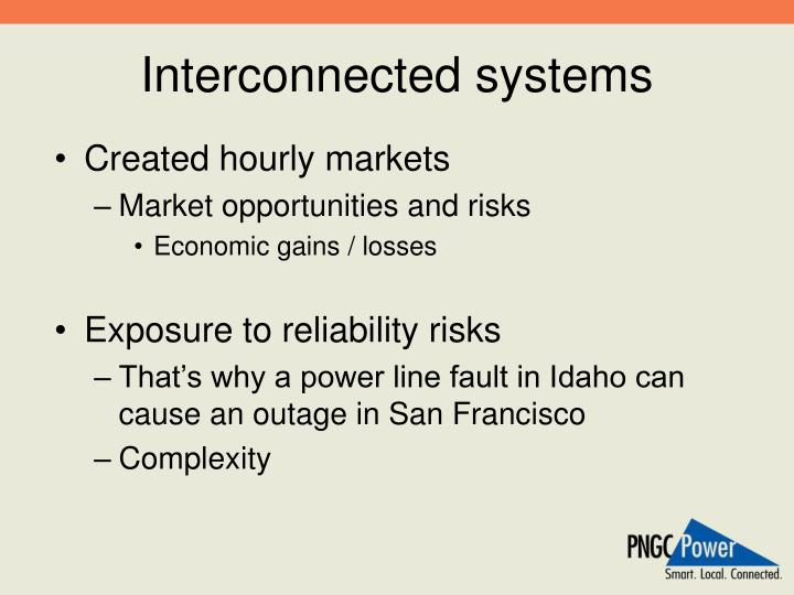 Interconnected systems