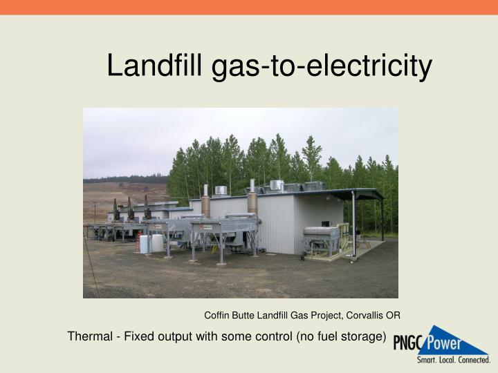 Landfill gas-to-electricity