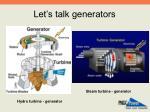 let s talk generators