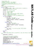 matlab code method 1 multirun