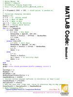 matlab code method 1