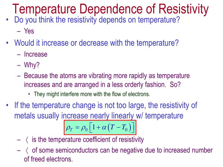 Do you think the resistivity depends on temperature?