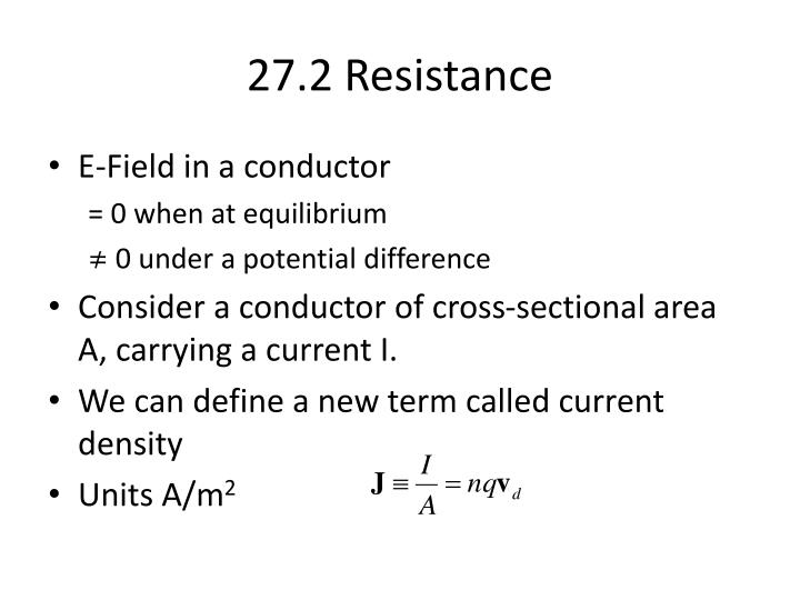 27.2 Resistance