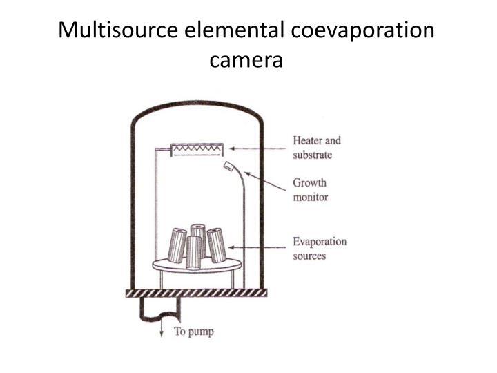 Multisource elemental coevaporation camera