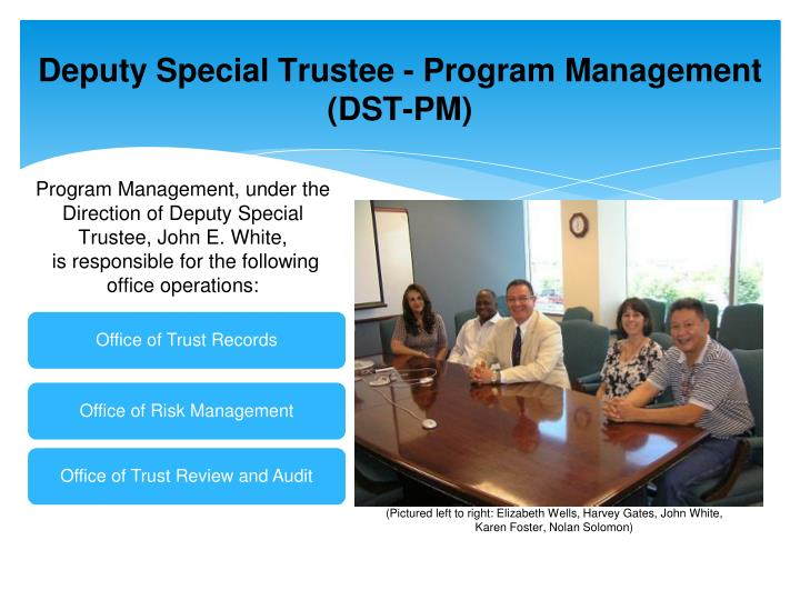 Deputy Special Trustee - Program Management (DST-PM