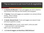 top 10 reasons to eat more fruits vegetables1