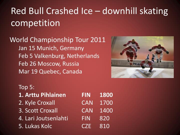 Red Bull Crashed Ice – downhill skating competition