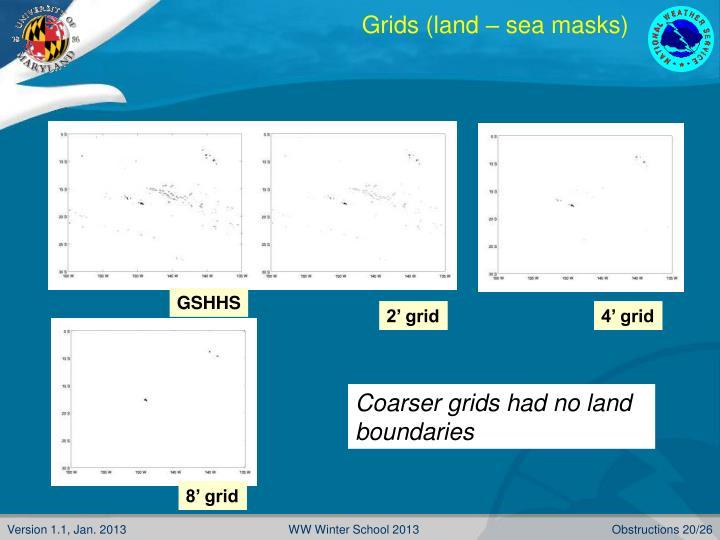 Grids (land – sea masks)