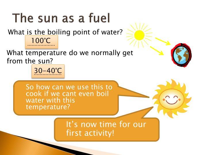 The sun as a fuel