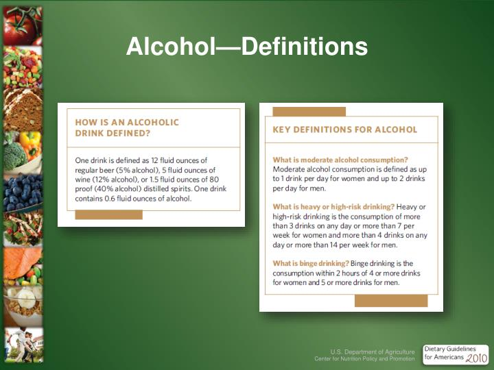 Alcohol—Definitions