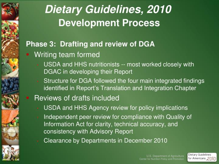 Dietary Guidelines, 2010
