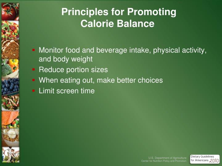 Principles for Promoting