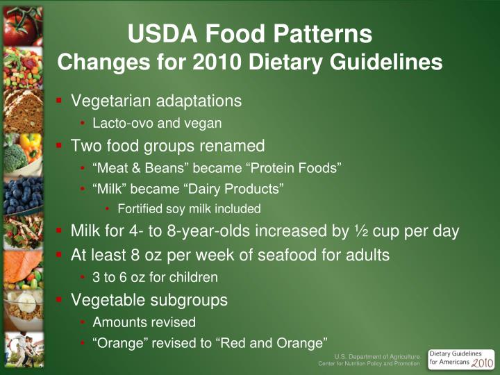 USDA Food Patterns