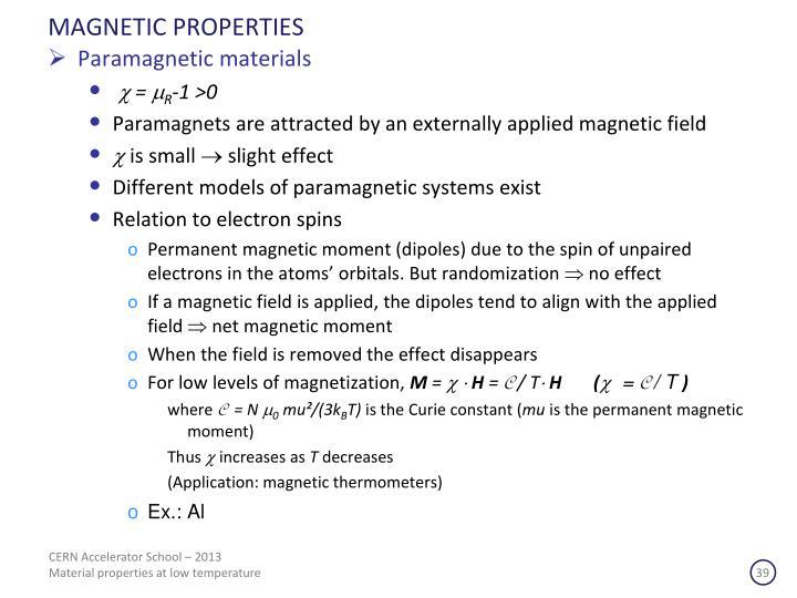 MAGNETIC PROPERTIES