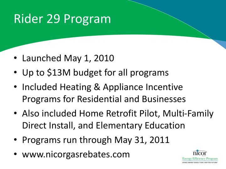 Rider 29 Program